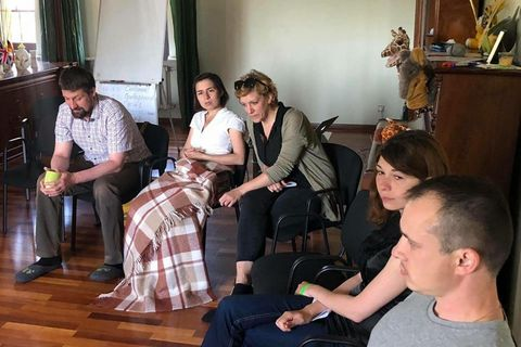 "Program coordinator of Civil Peace Service Ukraine Hannah Techner visited ""Dignity Space"""