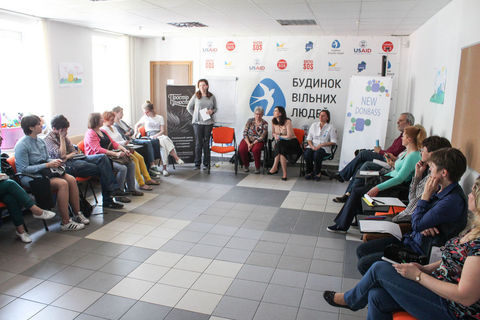 Irmtraud Kaushat visited Kyiv with a one-day NVC worhshop